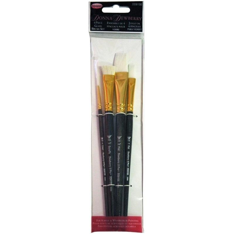 135237 Donna Dewberry Glass Brush Set 4pc