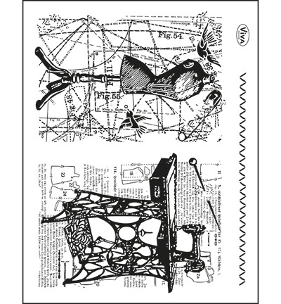 6957 Viva Decor Clear Stamps  Background Tailoring