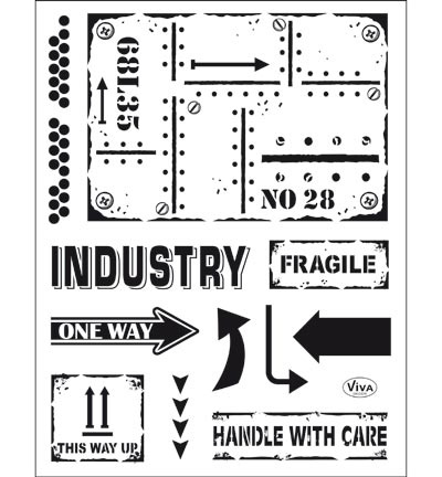 4003.159.00 ViVa Clear Stamps Industrial Style