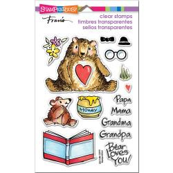 552970 Stampendous Perfectly Clear Stamps Honey Bears