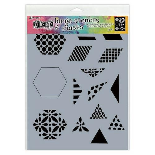 DYS75349 Ranger Dylusions Stencils 1 1/2 Inch Quilt Small