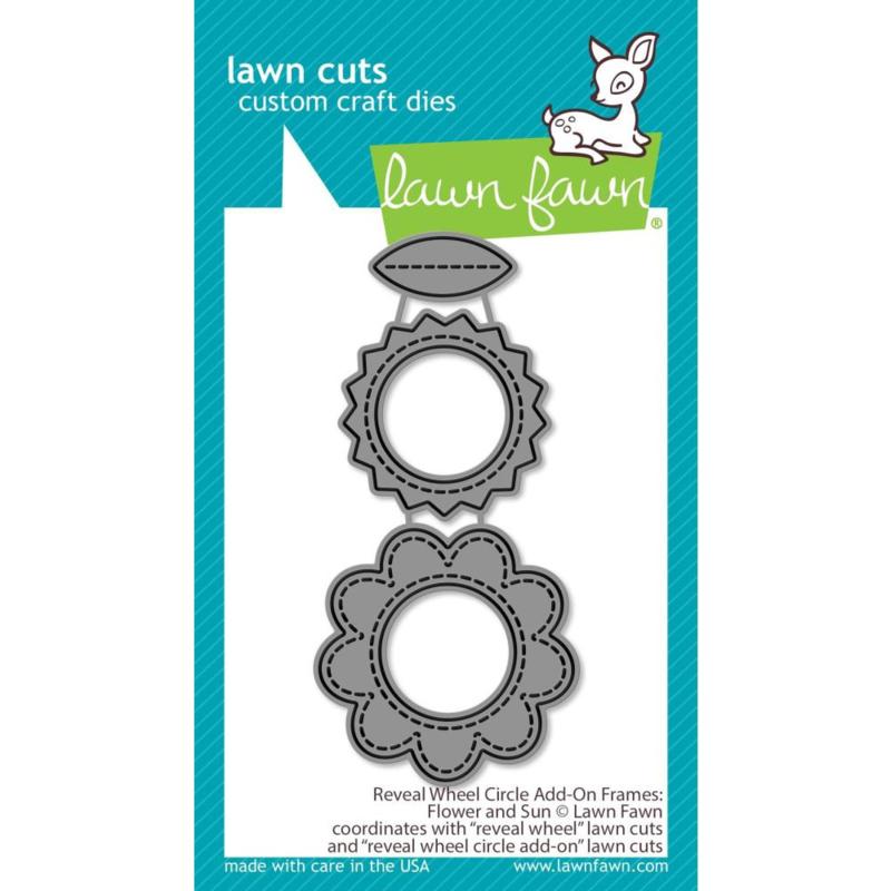 LF2254 Lawn Cuts Custom Craft Die Reveal Wheel Add-On Flower & Sun