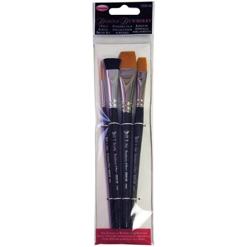 135236 Donna Dewberry Acrylic Brush Set 4pc