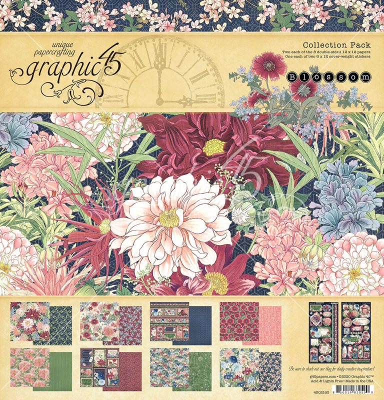 4502160 Graphic 45 Blossom 12x12 Inch Collection Pack