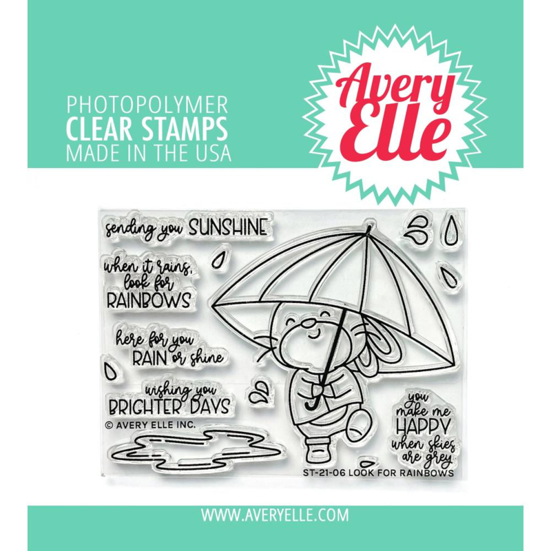 """647295 Avery Elle Clear Stamp Set Look For Rainbows 4""""X3"""""""