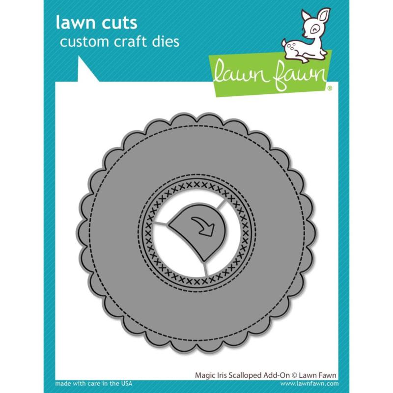 LF2240 Lawn Cuts Custom Craft Die Magic Iris Scalloped Add-On