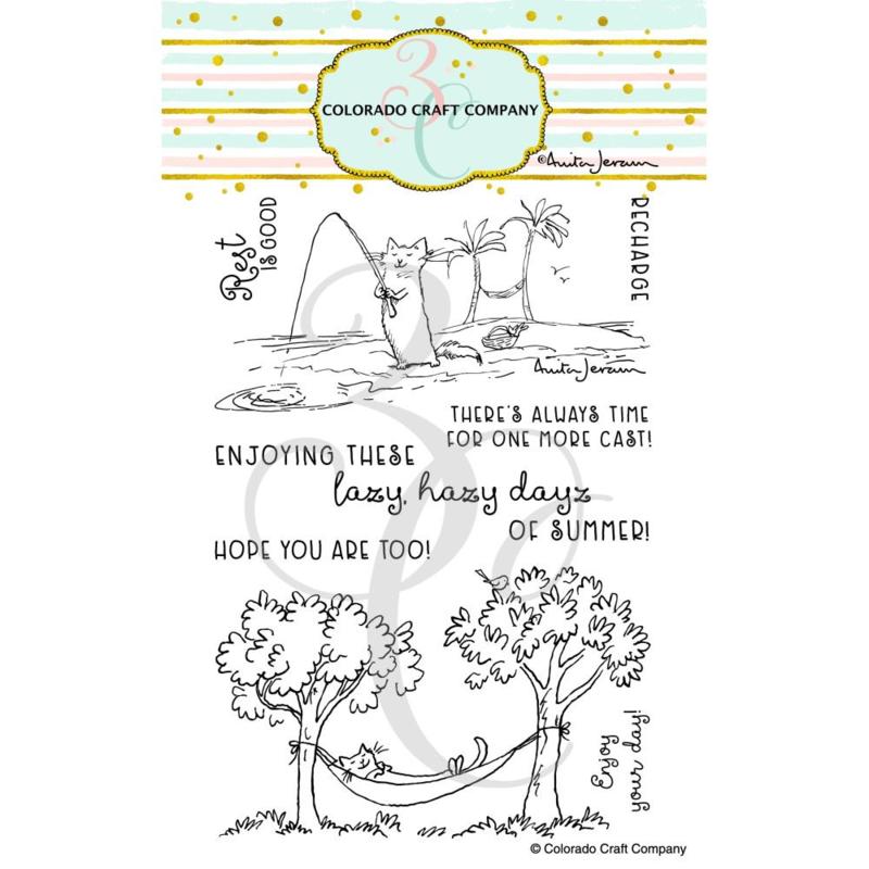 "C3AJ493 Colorado Craft Company Clear Stamps Recharge-By Anita Jeram 4""X6"""