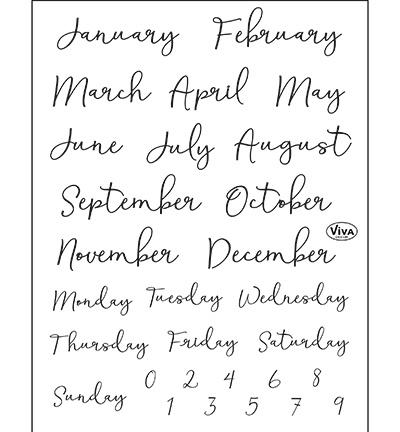 4003.207.00 Clear stamp Bujo/Kalender Monate