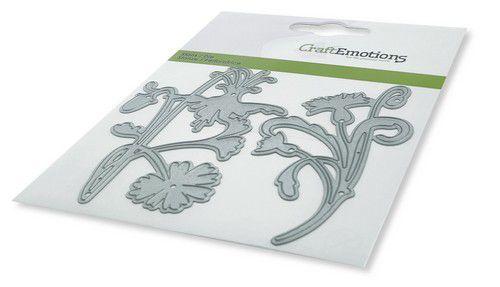 115633/0448 CraftEmotions Die - bloem art deco Card 11x9cm