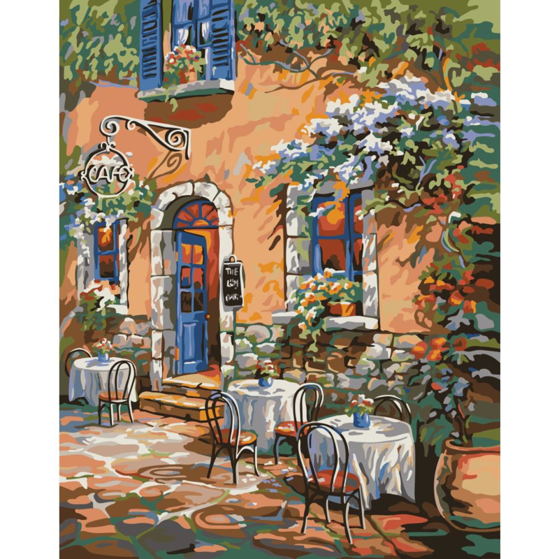 """307213 Paint By Number Kit French Country Cafe 16""""X20"""""""
