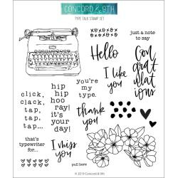 "612345 Concord & 9th Clear Stamps Type Talk 6""X6"""