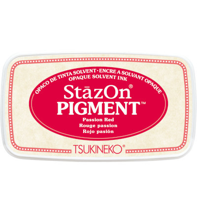 SZ-PIG-21 Tsukineko StazOn Pigment Passion Red