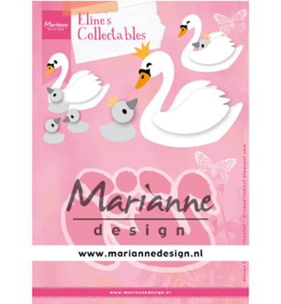 COL1478 Marianne Design Collectables Eline's Swan