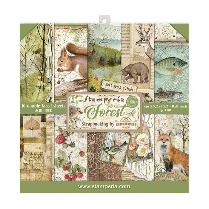 SBBS06 Stamperia Forest 8x8 Inch Paper Pack