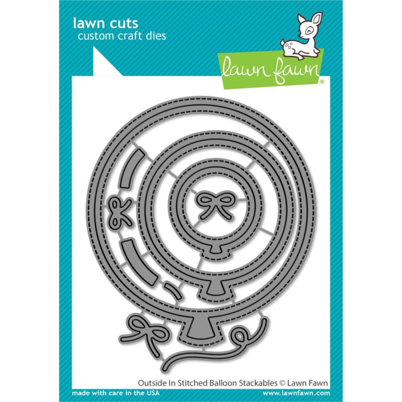 LF2265 Lawn Cuts Custom Craft Die Outside In Stitched Balloon Stackables