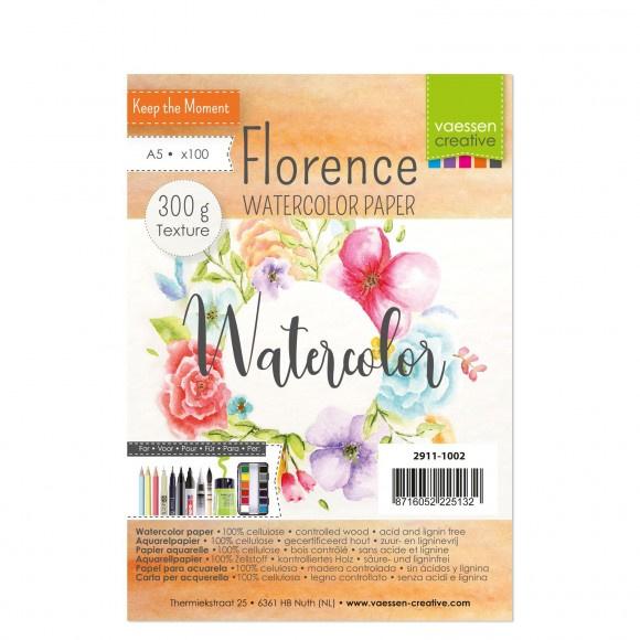 2911-1002 Florence  Aquarelpapier texture A5