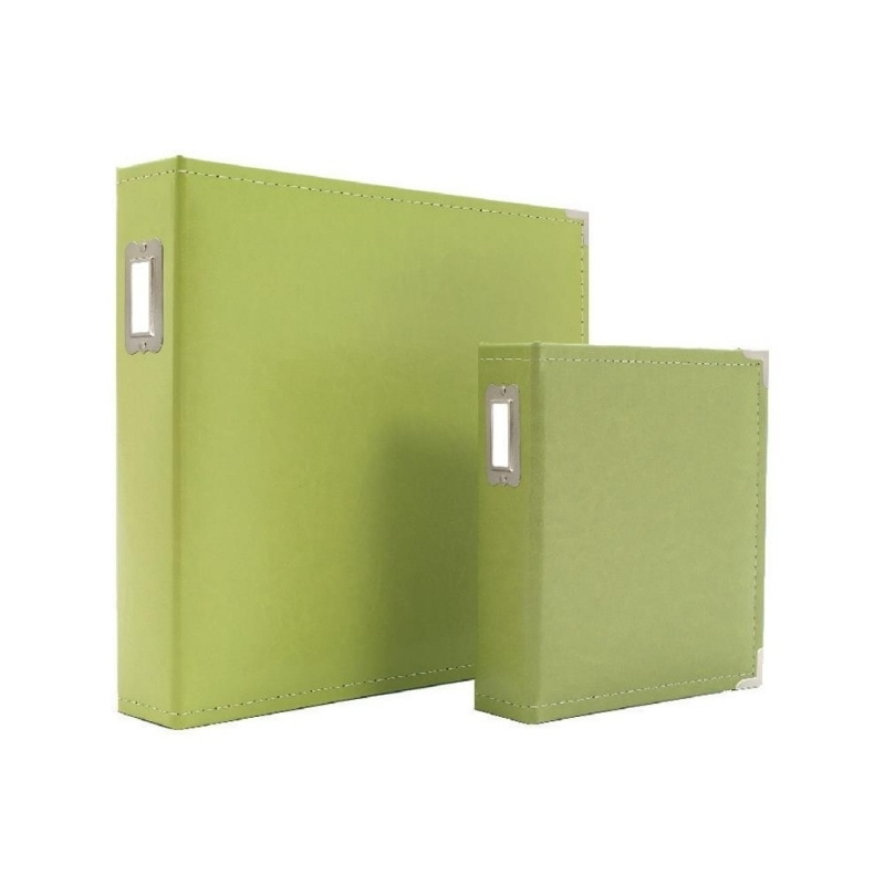 "038483 Sn@p! Leather Binder 6""X8"" Green"