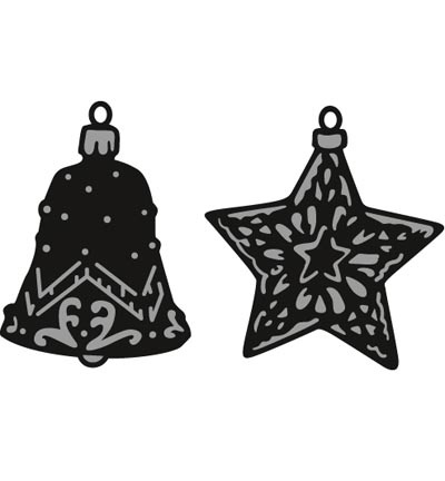 CR1382 Craftables Tiny's ornaments star & bell