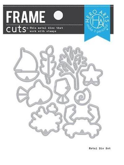 654821 Hero Arts Frame Cut Dies Graphic Reef