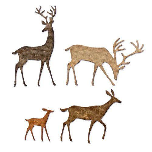 664968 Sizzix Thinlits Die Set Darling Deer Tim Holtz