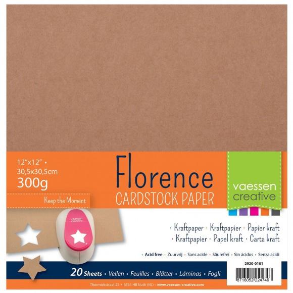 2920-0101 Florence  kraft papier 30,5 x 30,5cm
