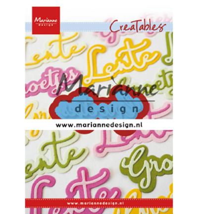 LR0646 Marianne Design Cutting & embossing Groetjes