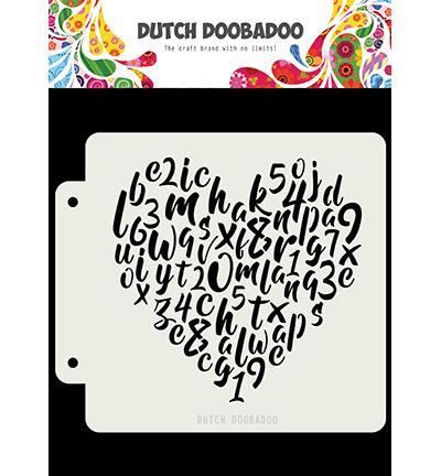 470.715.153 Dutch DooBaDoo Alphabet heart