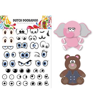 491 200 006 Dutch DooBaDoo Sticker Art Eyes