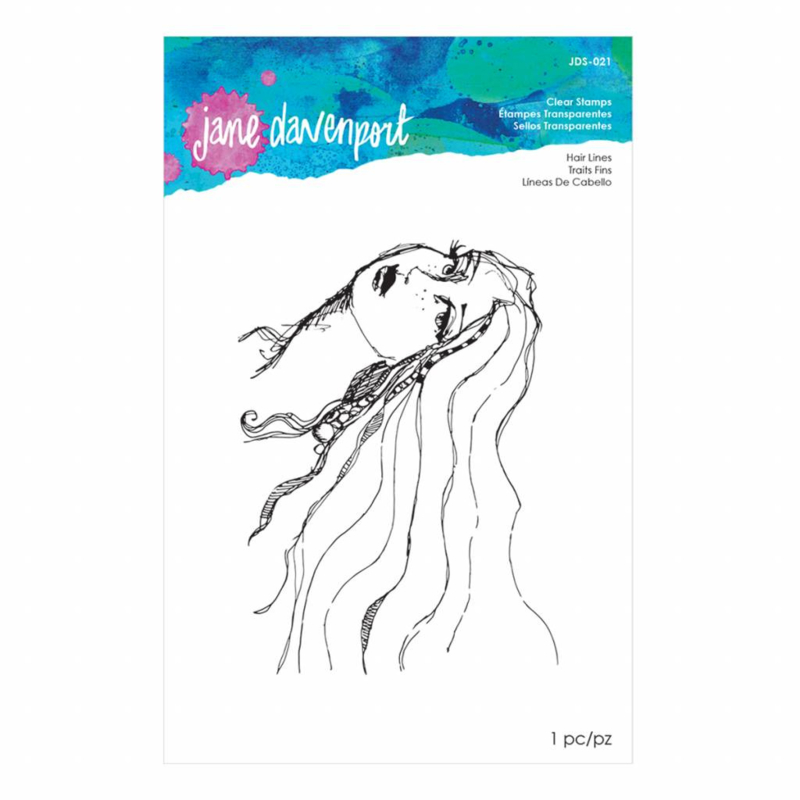 JDS-021 Jane Davenport Clear Stamps Hair Lines