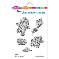 560381 Stampendous Cling Stamp Puppy Boy