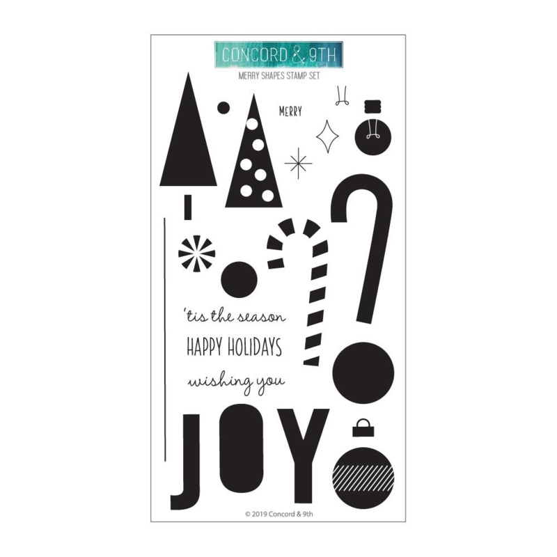 "606485 Concord & 9th Clear Stamps Merry Shapes 4""X8"""