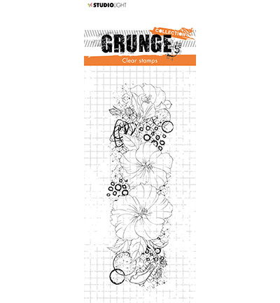 SL-GR-STAMP35 StudioLight Clear Stamp Hibiscus Grunge Collection nr.35