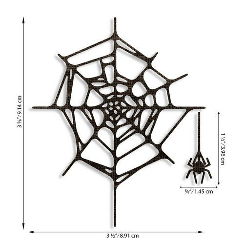 664747 Sizzix Thinlits Die Set - Spider Web 2PK Tim Holtz