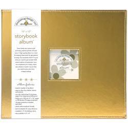 "095206 Doodlebug Storybook Metallic Album Gold 12""X12"""