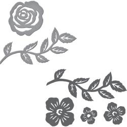 SDS066A Spellbinders Stamp & Die Set By Sharyn Sowell Floral Set