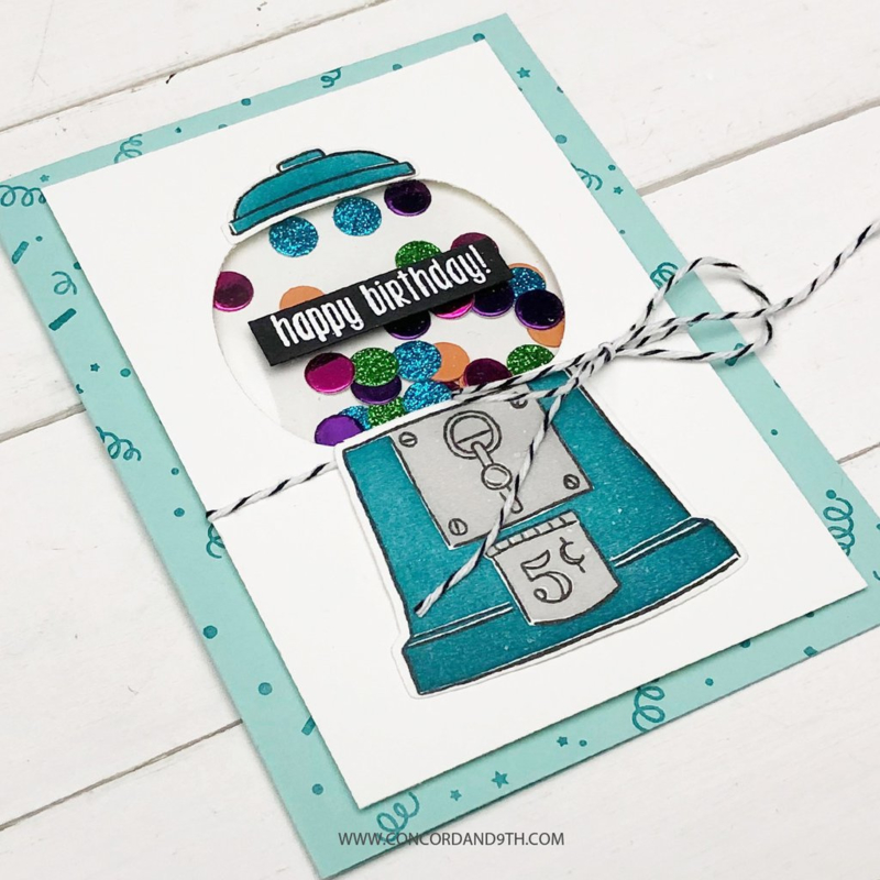 """619045 Concord & 9th Clear Stamps I Chews You 6""""X6"""""""