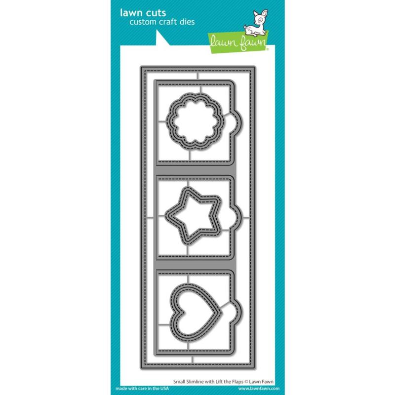 LF2358 Lawn Cuts Custom Craft Die Small Slimline W/Lift The Flaps
