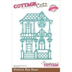 """423190 CottageCutz Elites Die Victorian Row House, 3.5""""X5"""""""