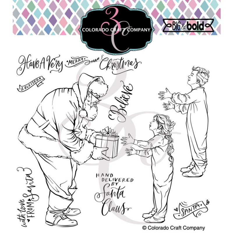 """C3BB522 Colorado Craft Company Clear Stamps Believe-Big & Bold 6""""X6"""""""