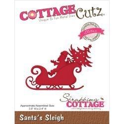 """506478 CottageCutz Elites Die Santa's Sleigh 3.5""""X2.4"""""""