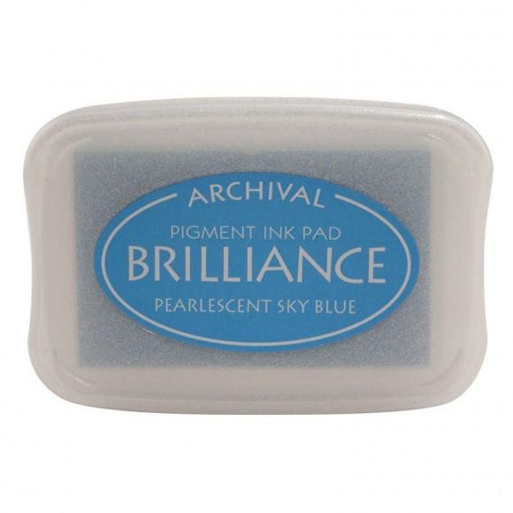 BR1-38 Brilliance ink pad pearl sky blue