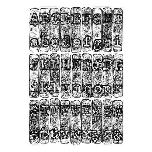 664760 Sizzix 3-D Texture Fades Embossing Folder - Typewriter  Tim Holtz