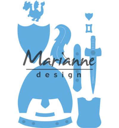 LR0528 Marianne Design Creatables Kim's Buddies knight