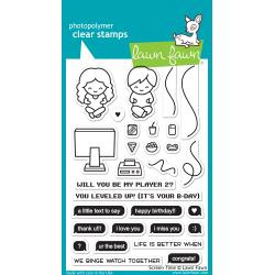 """LF1684 Lawn Fawn Clear Stamps Screen Time 4""""X6"""""""