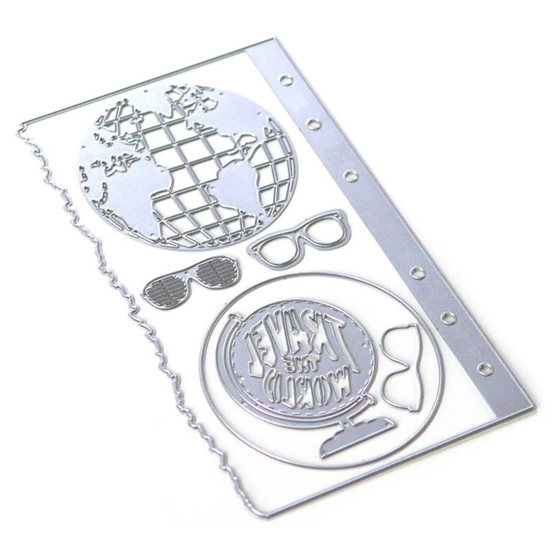 EC1803 Elizabeth Craft Metal Die Planner Essentials 28 Globe