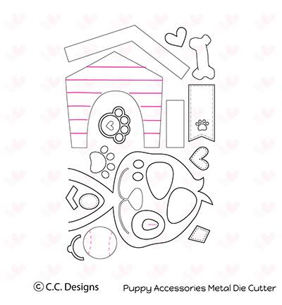 CCC41 C.C.Designs Metal Dies Puppy Accessories