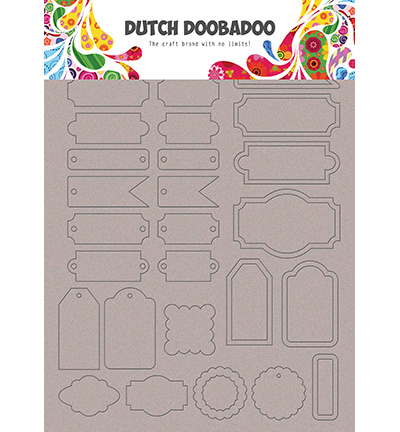 492.006.006 Dutch DooBaDoo Greyboard Art Labels and tags