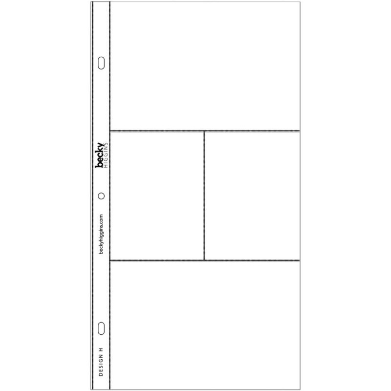 040156 Project Life Photo Pocket Pages 24/Pkg Design H
