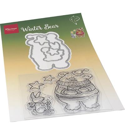 HT1659 Marianne Design Stamp + die set Hetty's Winter bear