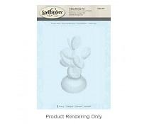 DSC-057 Spellbinders Prickly Pear 3D Shading Stamp